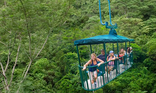 Tram tours through the costa rica rainforest