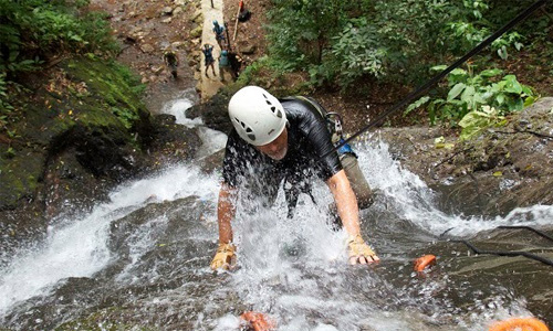 Waterfall rappelling tours