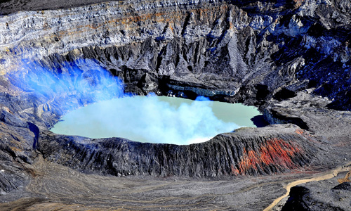 volcano tours to poas crater in costa rica